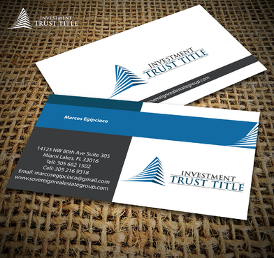 Stationary for Title Company  Business Cards and Stationery  Draft # 360 by jpgart92