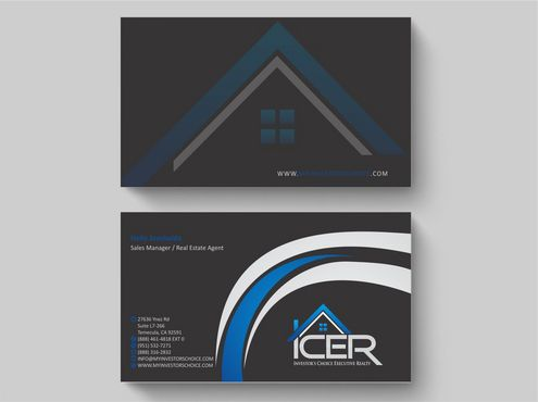 Investor's Choice Executive Realty Business Cards and Stationery  Draft # 171 by Deck86