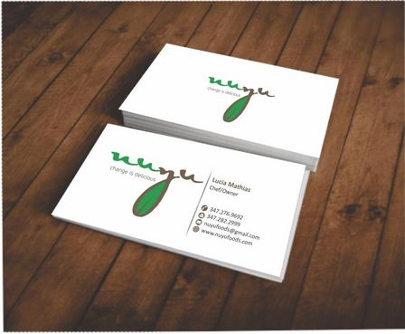 NUYU, change is delicious Business Cards and Stationery  Draft # 110 by Deck86