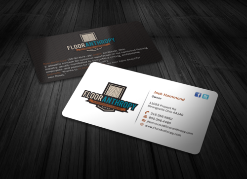 Looking for a new businees card for our new logo