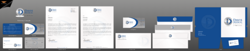 Business card and stationary for medical office