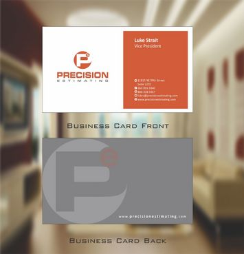 Precision Estimating Business Cards and Stationery  Draft # 49 by Deck86