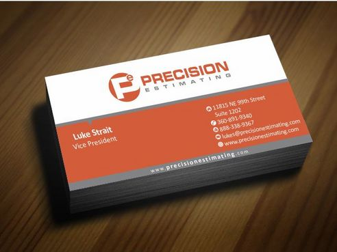 Precision Estimating Business Cards and Stationery  Draft # 69 by Deck86