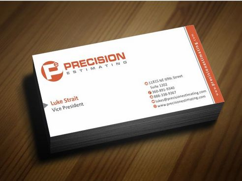 Precision Estimating Business Cards and Stationery  Draft # 70 by Deck86