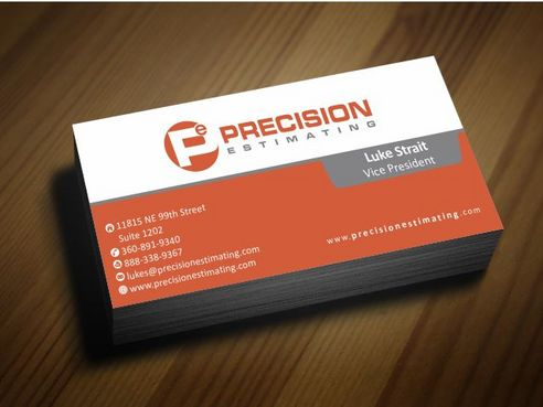 Precision Estimating Business Cards and Stationery  Draft # 88 by Deck86