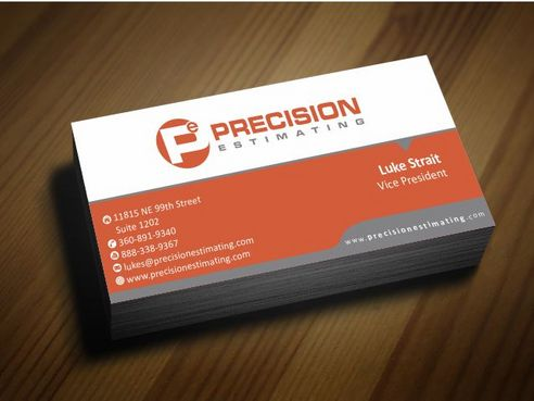 Precision Estimating Business Cards and Stationery  Draft # 89 by Deck86