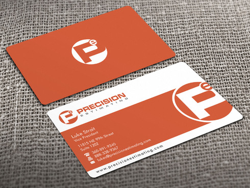 Precision Estimating Business Cards and Stationery  Draft # 100 by Xpert