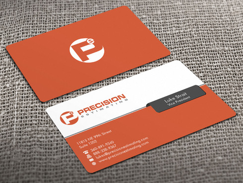 Precision Estimating Business Cards and Stationery  Draft # 101 by Xpert