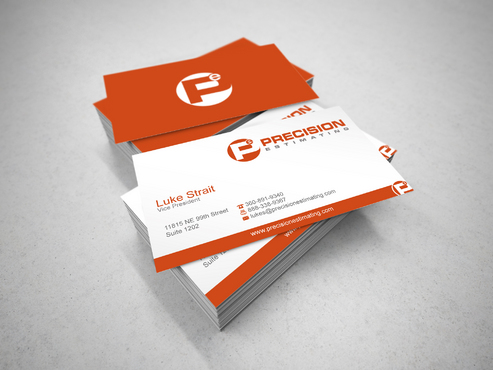 Precision Estimating Business Cards and Stationery  Draft # 116 by sevensky