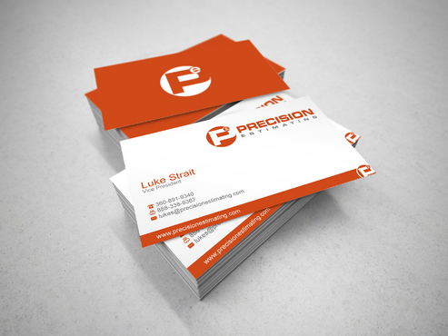 Precision Estimating Business Cards and Stationery  Draft # 121 by sevensky