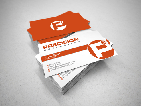 Precision Estimating Business Cards and Stationery  Draft # 122 by sevensky