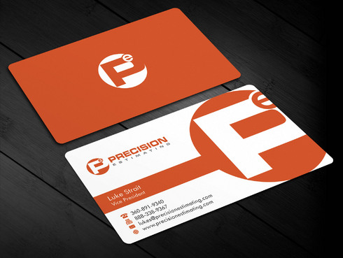 Precision Estimating Business Cards and Stationery  Draft # 126 by Xpert