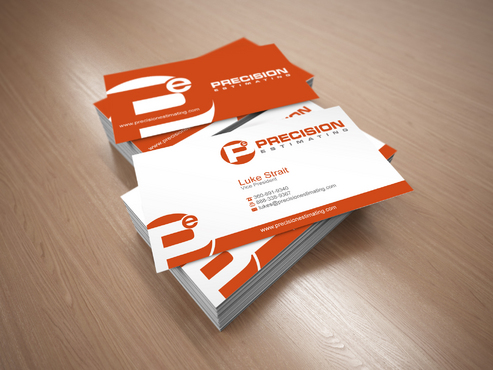Precision Estimating Business Cards and Stationery  Draft # 136 by sevensky