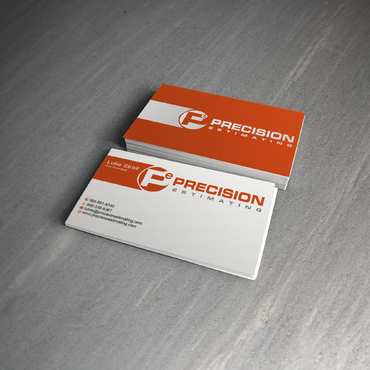 Precision Estimating Business Cards and Stationery  Draft # 139 by skyscraper
