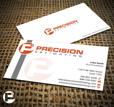 Precision Estimating Business Cards and Stationery  Draft # 228 by jpgart92