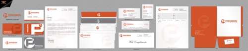 Precision Estimating Business Cards and Stationery Winning Design by einsanimation