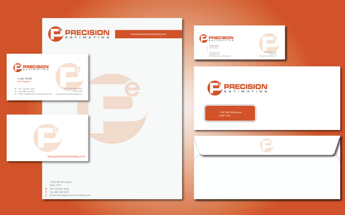 Precision Estimating Business Cards and Stationery  Draft # 287 by jpgart92