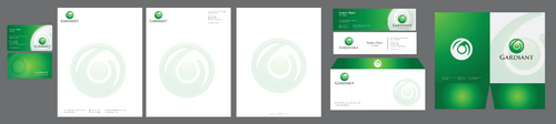 Business cards, letterhead, folder, brochure, flyer