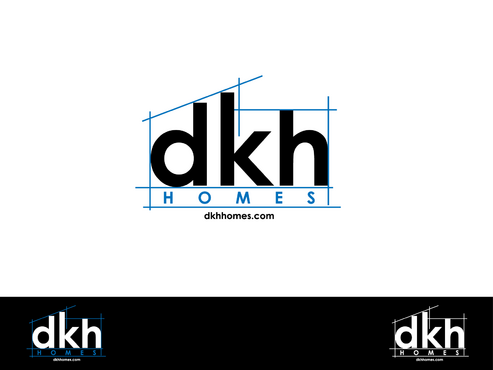 dkh homes Logo Winning Design by inzdesign