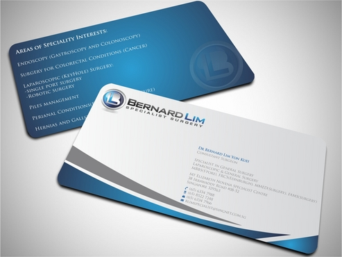 Bernard Lim Specialist Surgery Business Cards and Stationery  Draft # 58 by FASTDESGNER