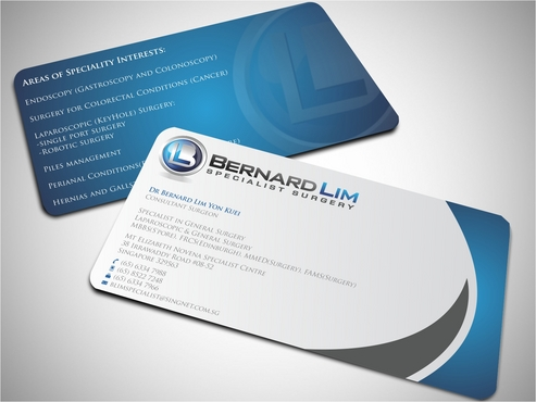 Bernard Lim Specialist Surgery Business Cards and Stationery  Draft # 59 by FASTDESGNER