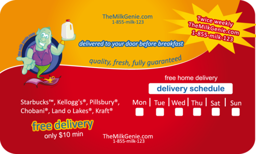 twice weekly free home milk delivery