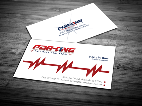 Pdr one business cards and stationery by dentrepair paintless dent repair business cards and stationery draft 261 by jpgart92 reheart Choice Image