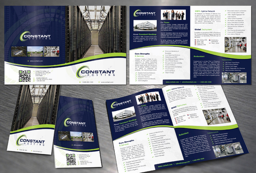 2 page hosting company marketing brochure