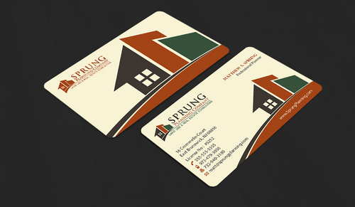 Matthew S. Sprung  Business Cards and Stationery  Draft # 12 by waterdropdesign