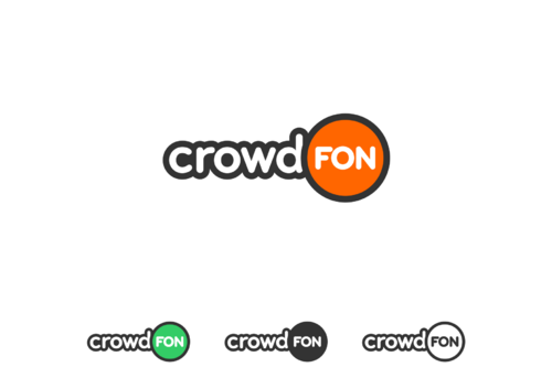 crowdFON Logo Winning Design by Nakade