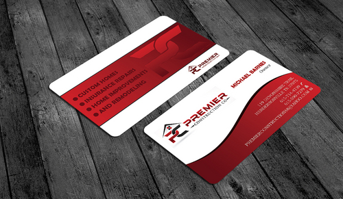 PREMIER CONSTRUCTION CO Business Cards and Stationery  Draft # 62 by waterdropdesign