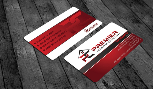 PREMIER CONSTRUCTION CO Business Cards and Stationery  Draft # 63 by waterdropdesign