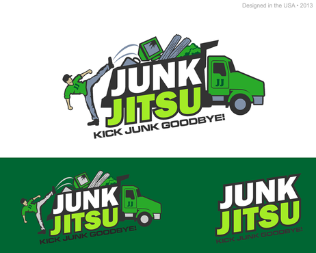 Junk Jitsu Logo Winning Design by mnorth