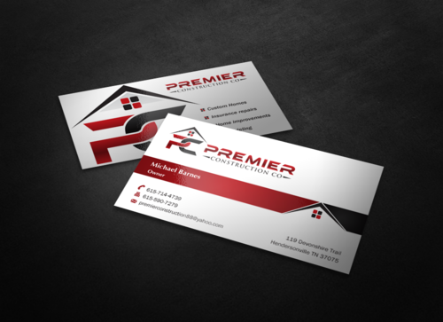 PREMIER CONSTRUCTION CO Business Cards and Stationery  Draft # 71 by einsanimation
