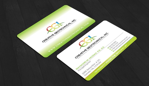 Integrity from the Ground Up Business Cards and Stationery  Draft # 84 by waterdropdesign