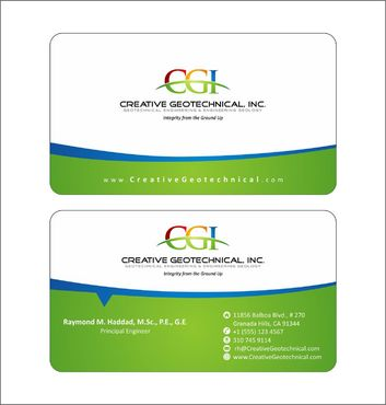 Integrity from the Ground Up Business Cards and Stationery  Draft # 130 by Deck86