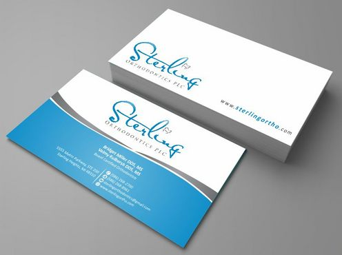 Sterling Orthodontics PLC stationary Business Cards and Stationery  Draft # 193 by Deck86