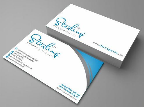 Sterling Orthodontics PLC stationary Business Cards and Stationery  Draft # 198 by Deck86