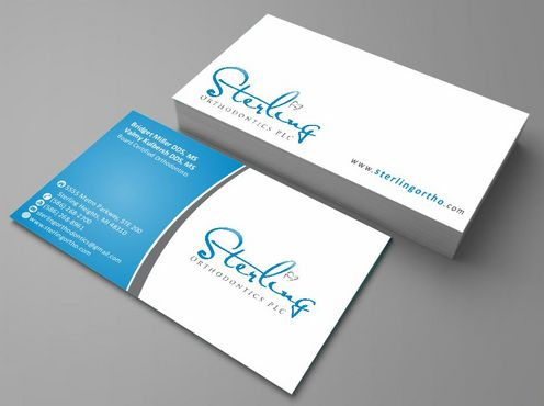 Sterling Orthodontics PLC stationary Business Cards and Stationery  Draft # 200 by Deck86