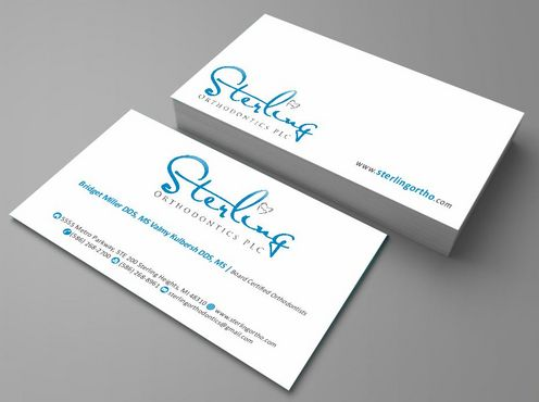 Sterling Orthodontics PLC stationary Business Cards and Stationery  Draft # 207 by Deck86