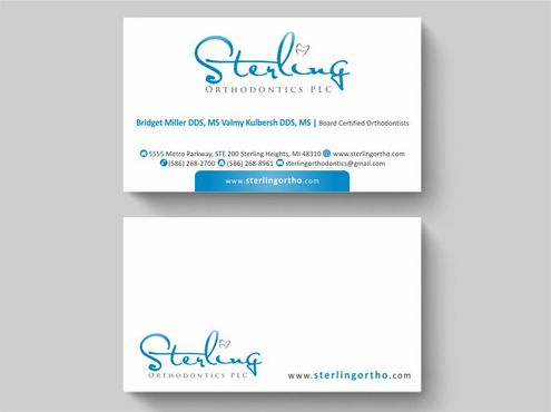 Sterling Orthodontics PLC stationary Business Cards and Stationery  Draft # 209 by Deck86