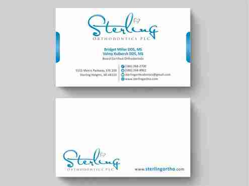 Sterling Orthodontics PLC stationary Business Cards and Stationery  Draft # 210 by Deck86