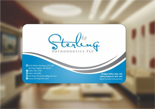 Sterling Orthodontics PLC stationary Business Cards and Stationery  Draft # 214 by Deck86