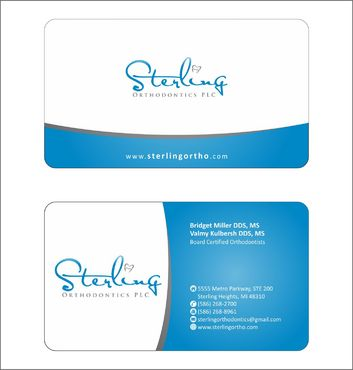 Sterling Orthodontics PLC stationary Business Cards and Stationery  Draft # 215 by Deck86