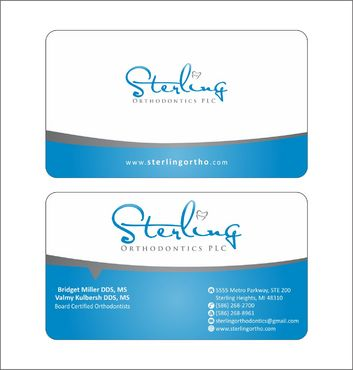 Sterling Orthodontics PLC stationary Business Cards and Stationery  Draft # 216 by Deck86