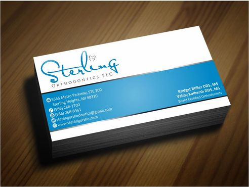 Sterling Orthodontics PLC stationary Business Cards and Stationery  Draft # 217 by Deck86