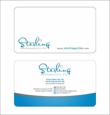 Sterling Orthodontics PLC stationary Business Cards and Stationery  Draft # 218 by Deck86