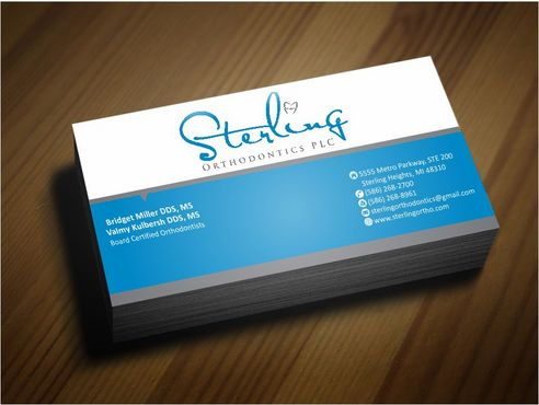 Sterling Orthodontics PLC stationary Business Cards and Stationery  Draft # 219 by Deck86