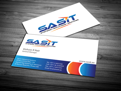 Sprint Advanced Systems Business Cards and Stationery  Draft # 157 by jpgart92