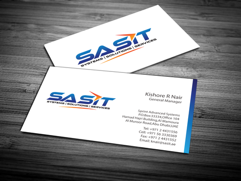 Sprint Advanced Systems Business Cards and Stationery  Draft # 163 by jpgart92